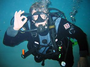 Kurt SCUBA diving