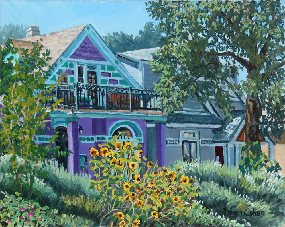 Neighborhood Home, 2017. Oil on canvas; 20 x 16 in.