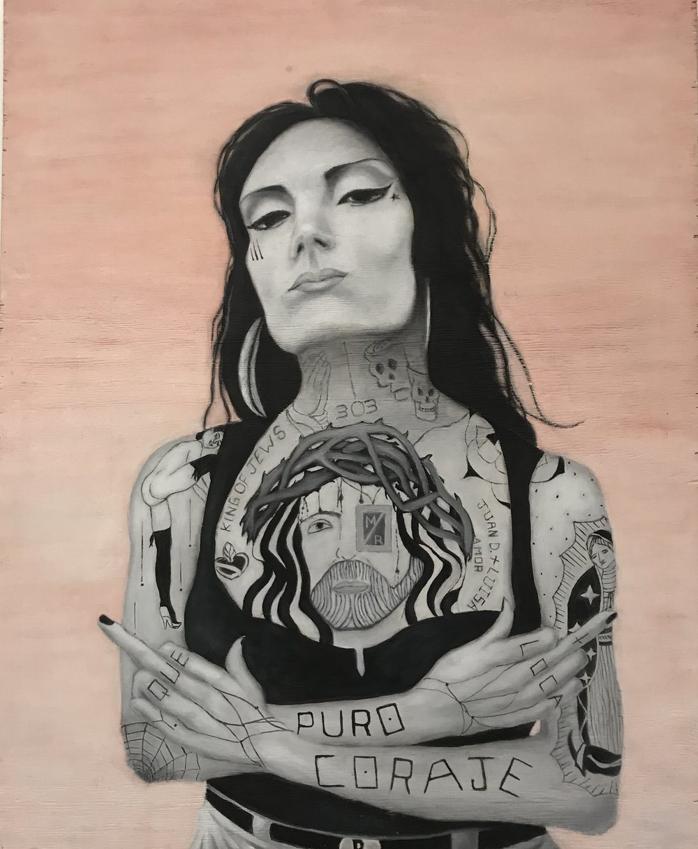 Michael Romero, Pure Courage. Acrylic on wood panel; 31 x 39 in.