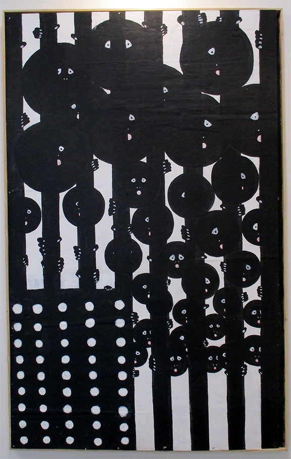 Old Glory: Black and White - Acrylic on panel