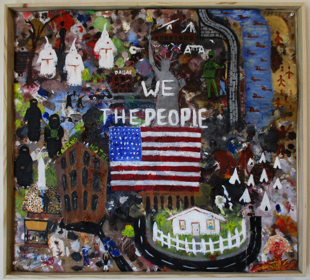 We The People - Acrylic on cardboard