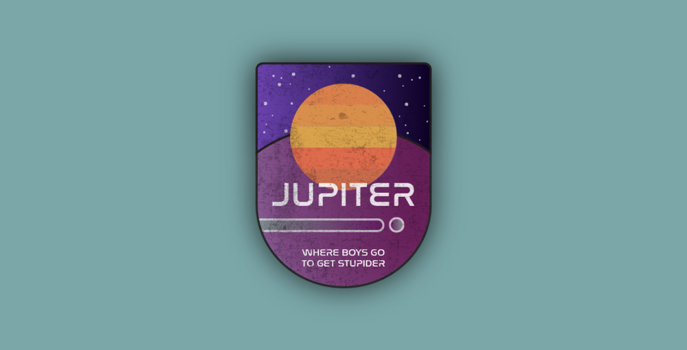 Destination: Jupiter Badge  Tools: Adobe Photoshop, Adobe Illustrator