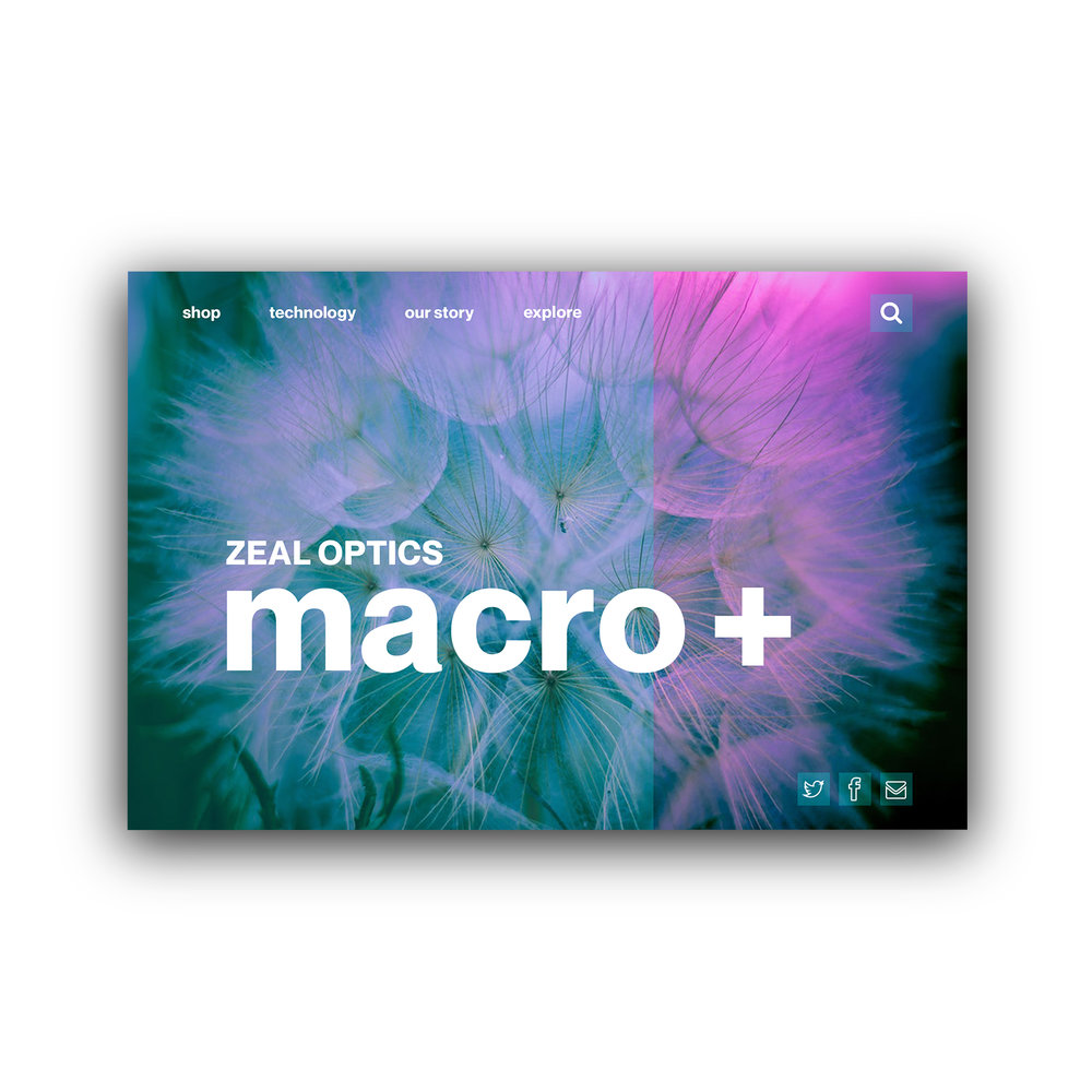 Zeal Optics Product Page UI  Tools: Adobe Photoshop
