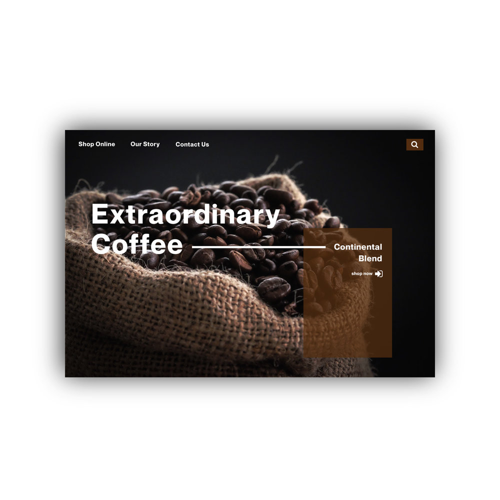Silver Canyon Coffee Product Page UI  Tools: Adobe Photoshop