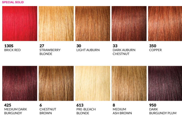 Color Charts The Wig Review