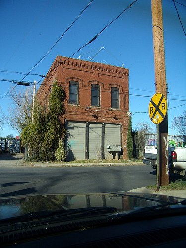 A straightforward three bay building on Wylie Street in Reynoldstown, Atlanta.