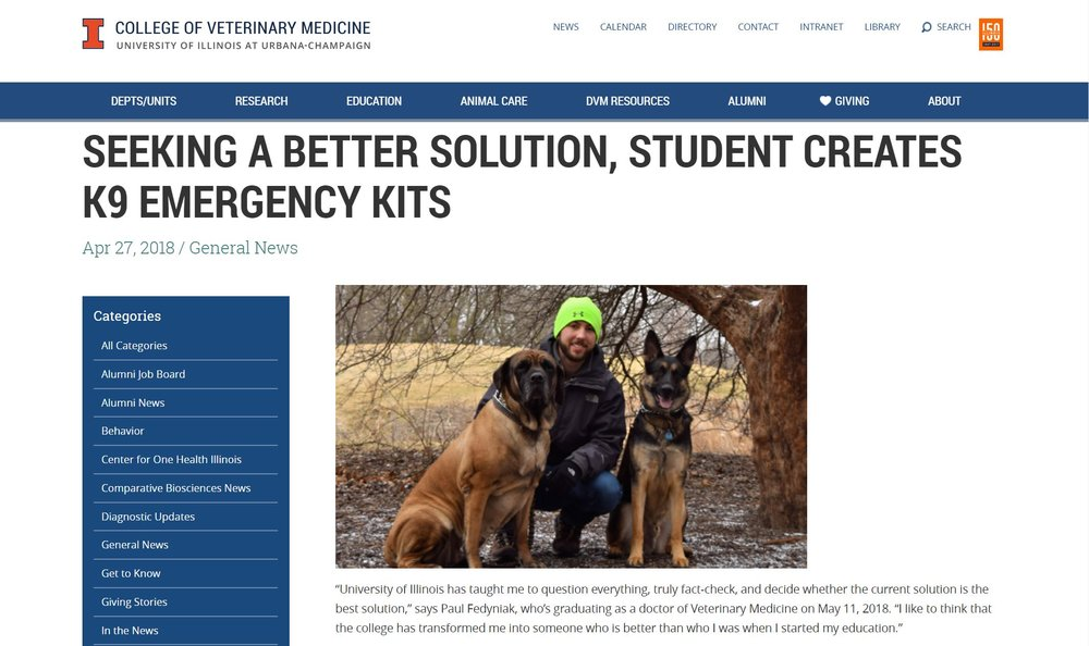 College of Veterinary Medicine News  -4/27/18 - Click Image for Full Story