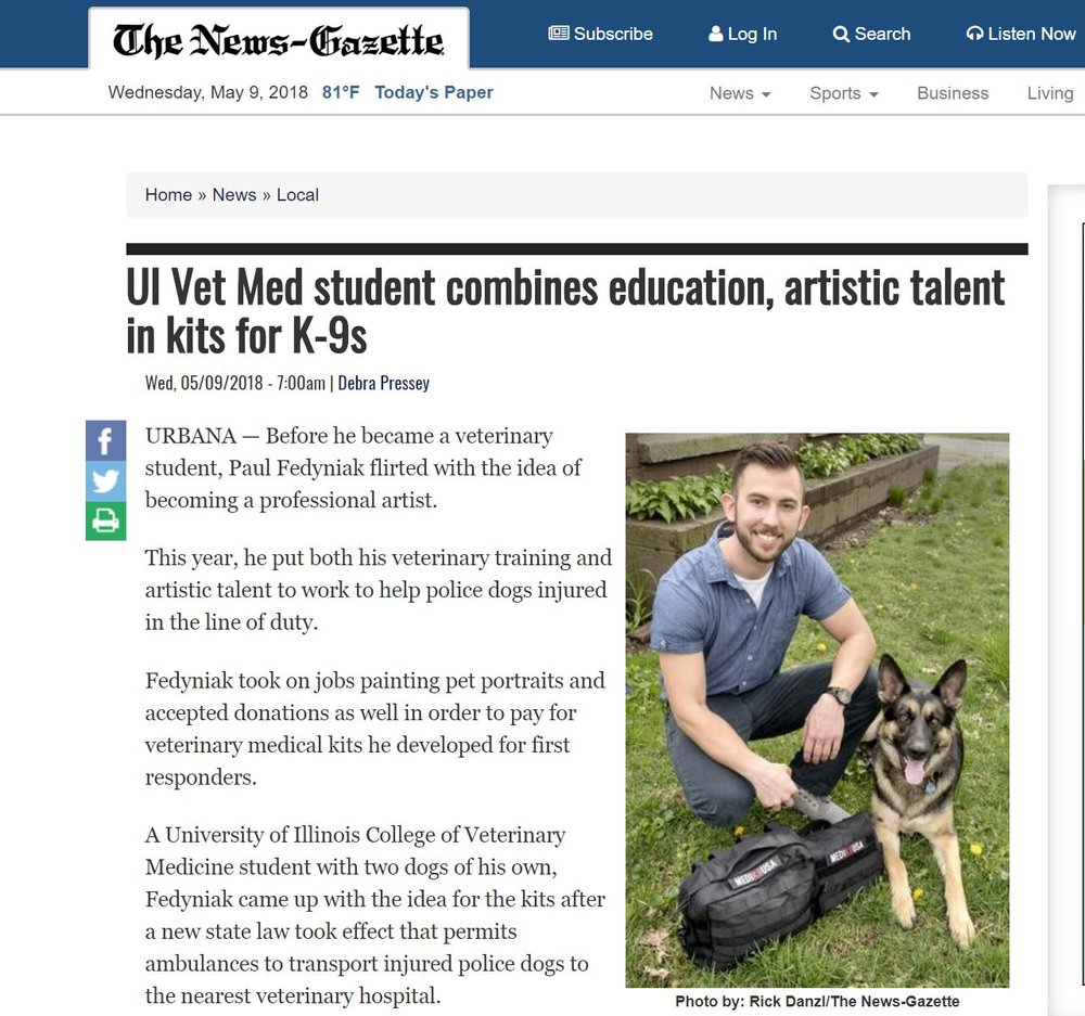 The News-Gazette -5/9/18 - Click Image for Full Story