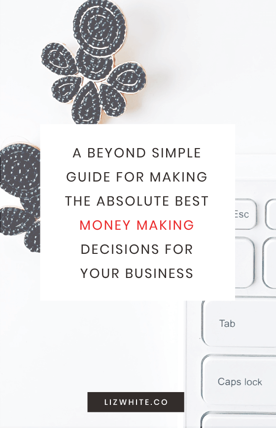 Make the best money-making decisions for your business with this simple, easy to follow guide.