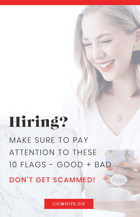 Are you ready to hire someone or outsource to a contractor? Make sure you pay attention and look out for these 5 green flags and 5 red flags. This will help make sure that you're hiring a qualified person, and not a scam artist.
