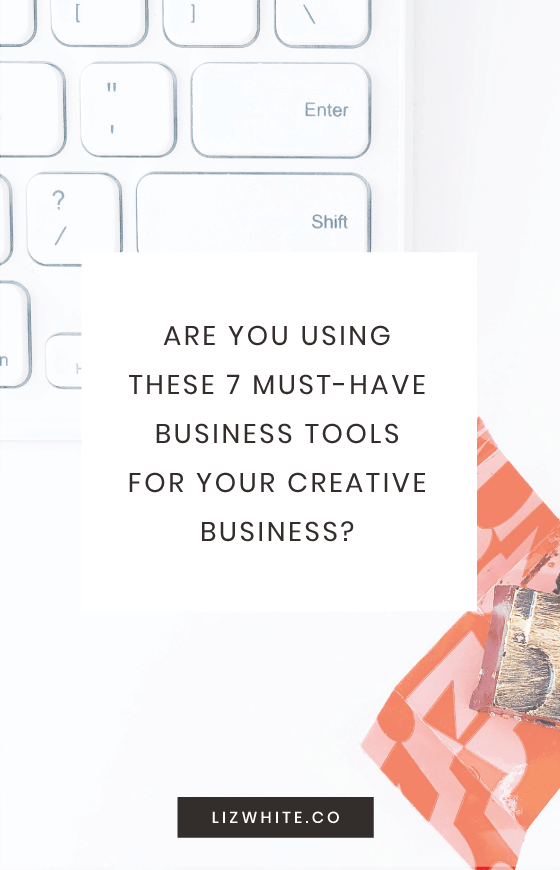 Are you using these 7 must-have business tools for your creative business? There aren't many tools I consider to be must-haves for my business, but these 7 make the cut. When you're trying to decide on what to invest in, these business tools and resources are a great start.