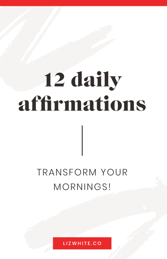 This list of 12 affirmations will help you start your day off in the right vibration. Uses these as a way to motivate you to have the best day!