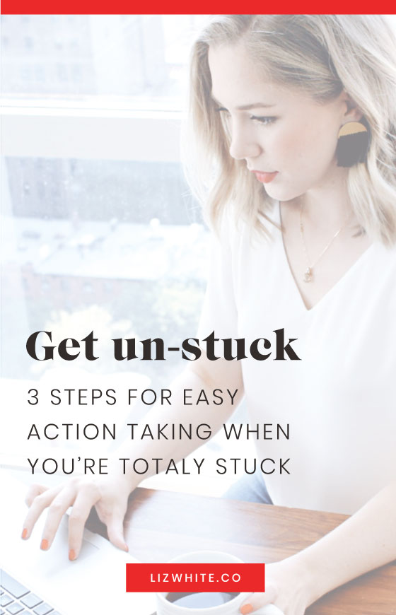 When you're feeling stuck and unmotivated, use these three easy steps to get back in action! Perfect for the productive entrepreneur facing a mid-day slump.
