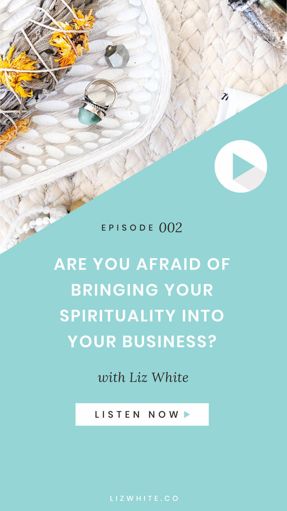 In this podcast episode I'm diving into this Q and sharing my story of how I went from scared of being judged to talking all about tarot, energy, crystals, law of attraction, #allthethings within my business without giving af what people think.