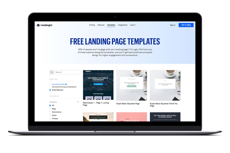 Leadpages - Easy to design landing page builder for opt-ins and sales pages