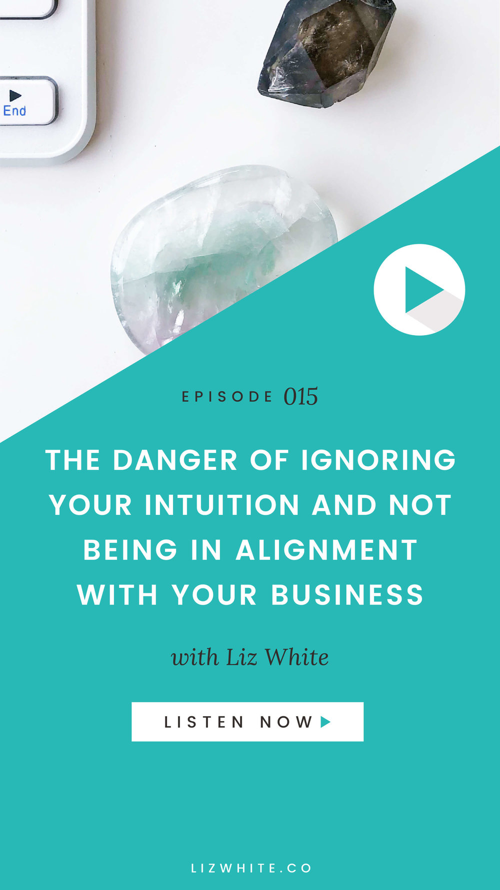 I'm about to make a big bold statement here, one that I believe is at the core of burnout... is the true cause of a business that's failing...  You're ignoring your intuition.