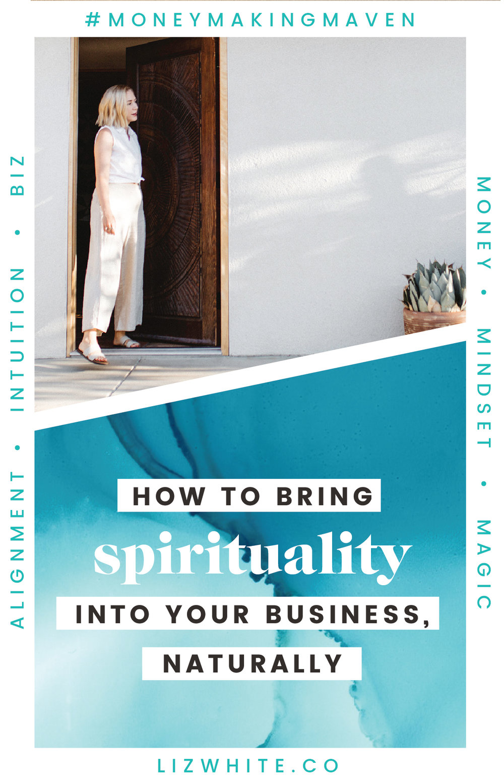 How to Begin Bringing Spirituality into Your Business | Liz White | #spirituality #spiritualityinbusiness #beliefs #moneymakingmaven #creativepreneur #intuitivebusiness | When you're learning about mindset, spirituality, energy, and intuition… you quickly become aware of its impact in your life. Naturally, when you're an entrepreneur and business owner, it will also have an impact on your business (intentional or not).