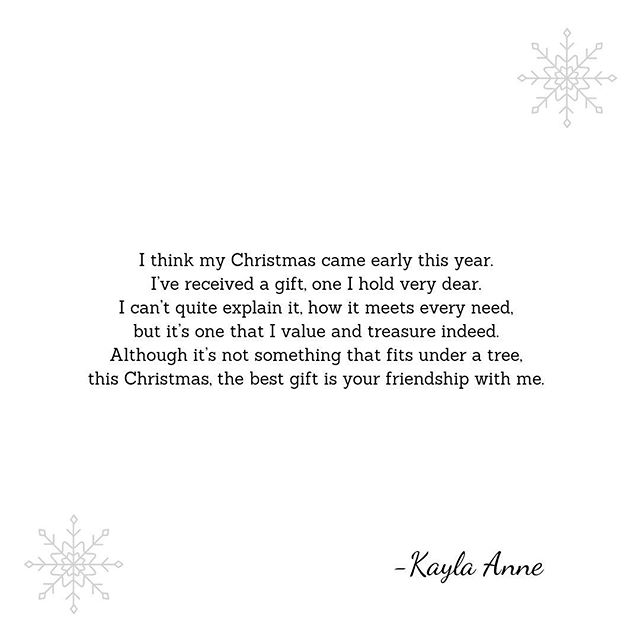 Merry Christmas, gems. I'm so thankful for all of you. ❄️
