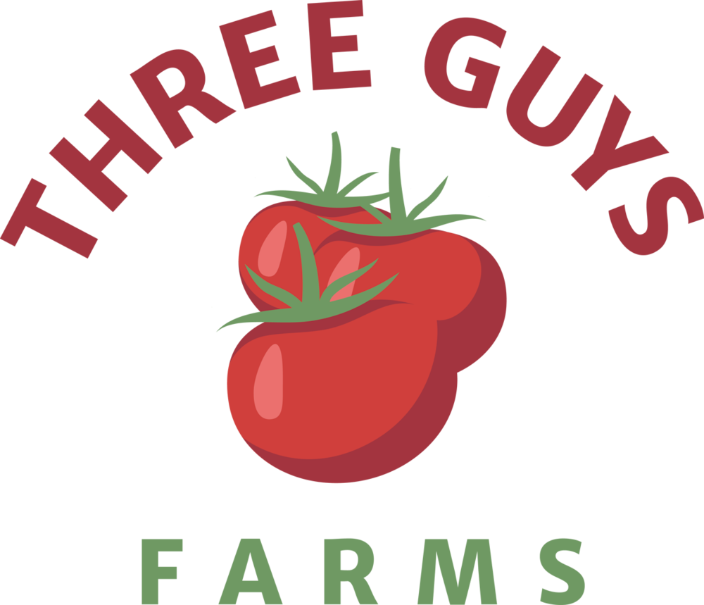 Three Guys Farms logo