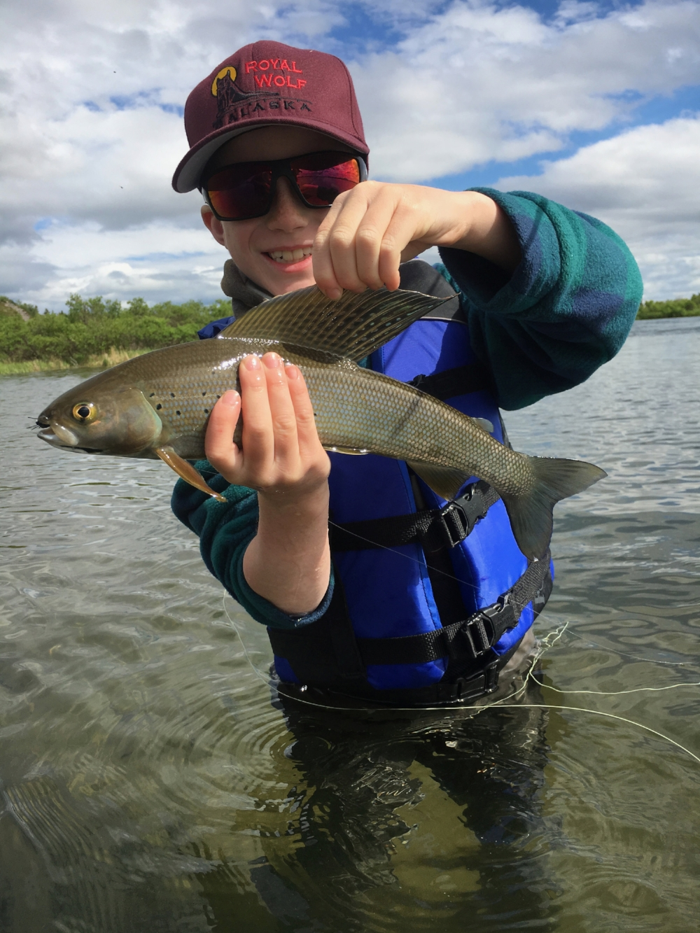 Eli and a Grayling, June 2018