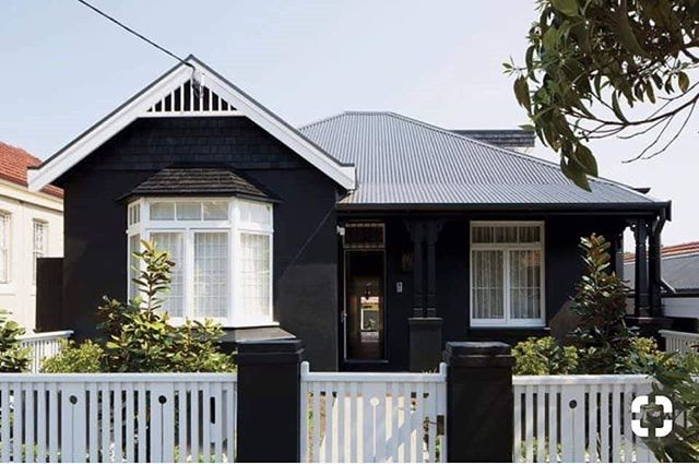"""Painting your house BLACK... Would you dare?🔥 This has been one of the hottest colour trends of 2018!  Our colour experts can help you find the perfect black for your home.. Whether it's our """"Turbo Charged"""" or our popular """"Siberian Nights""""  Come in and chat to us today!"""
