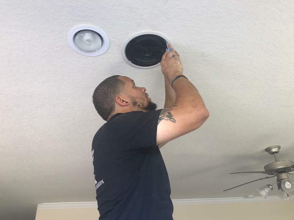 Installing speaker for surround sound!