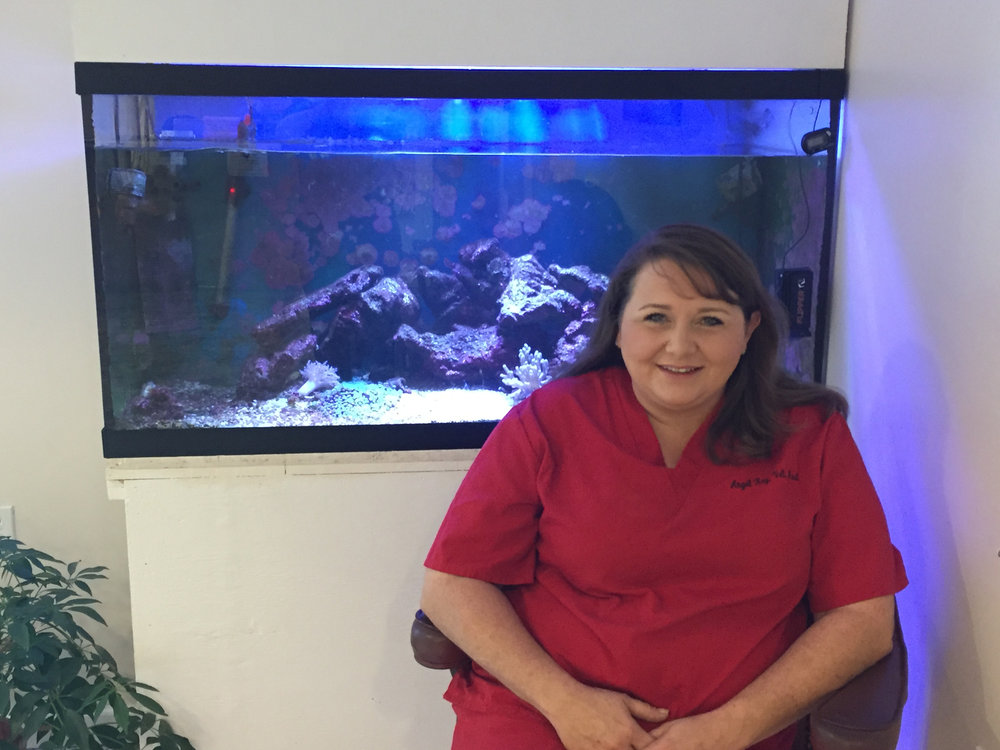 Angel key, veterinary assistant -  Angel has been with Animal Care Associates since 2012, where she is responsible for a range of administrative and medical care duties. Angel is also a skilled groomer, with experience with a range of cuts to make your dog look shine!