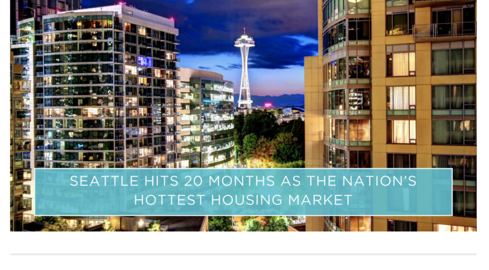 AveNews: Seattle Hits 20 Months as the Nations Hottest Housing