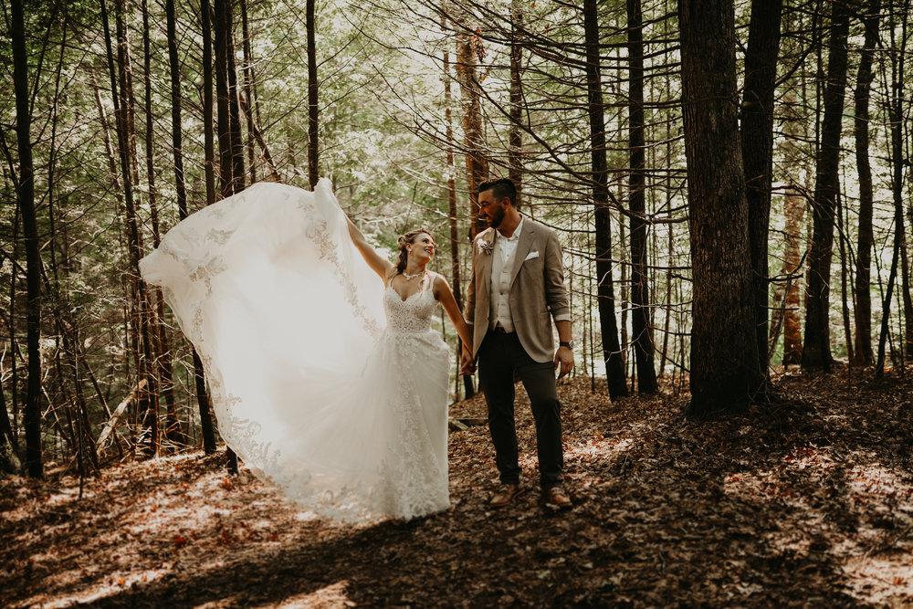 Olya + Derek Woods Wedding