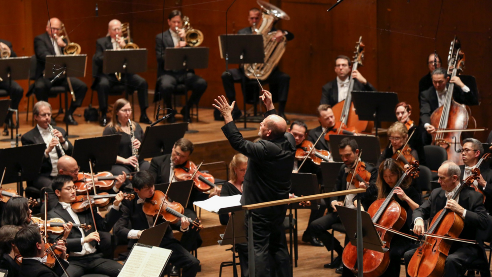 Jaap van Zweden with the New York Philharmonic. Photo credit: Caitlin Ochs for The New York Times.