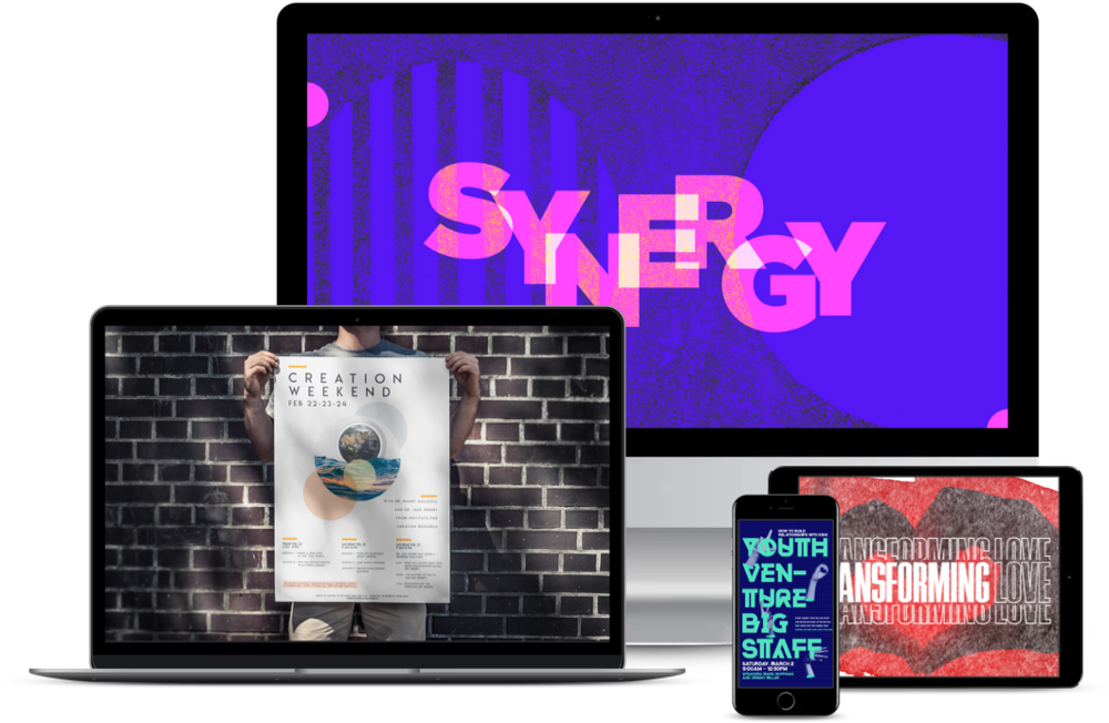 church media design mockups of sermon series
