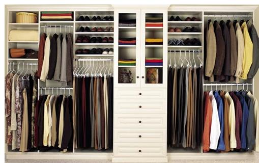 Closet organization and cleaning