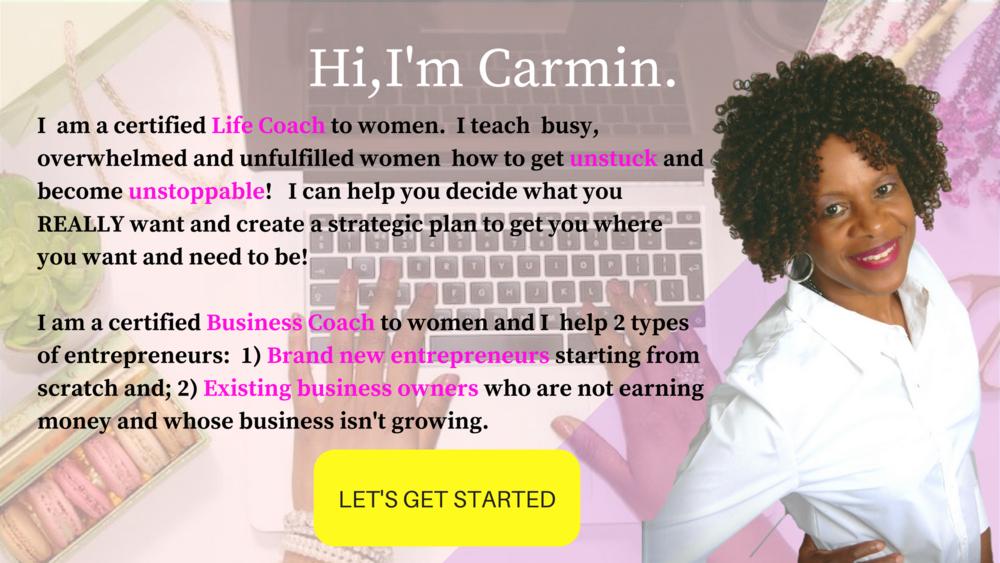 Life and Business Coach Carmin Wharton