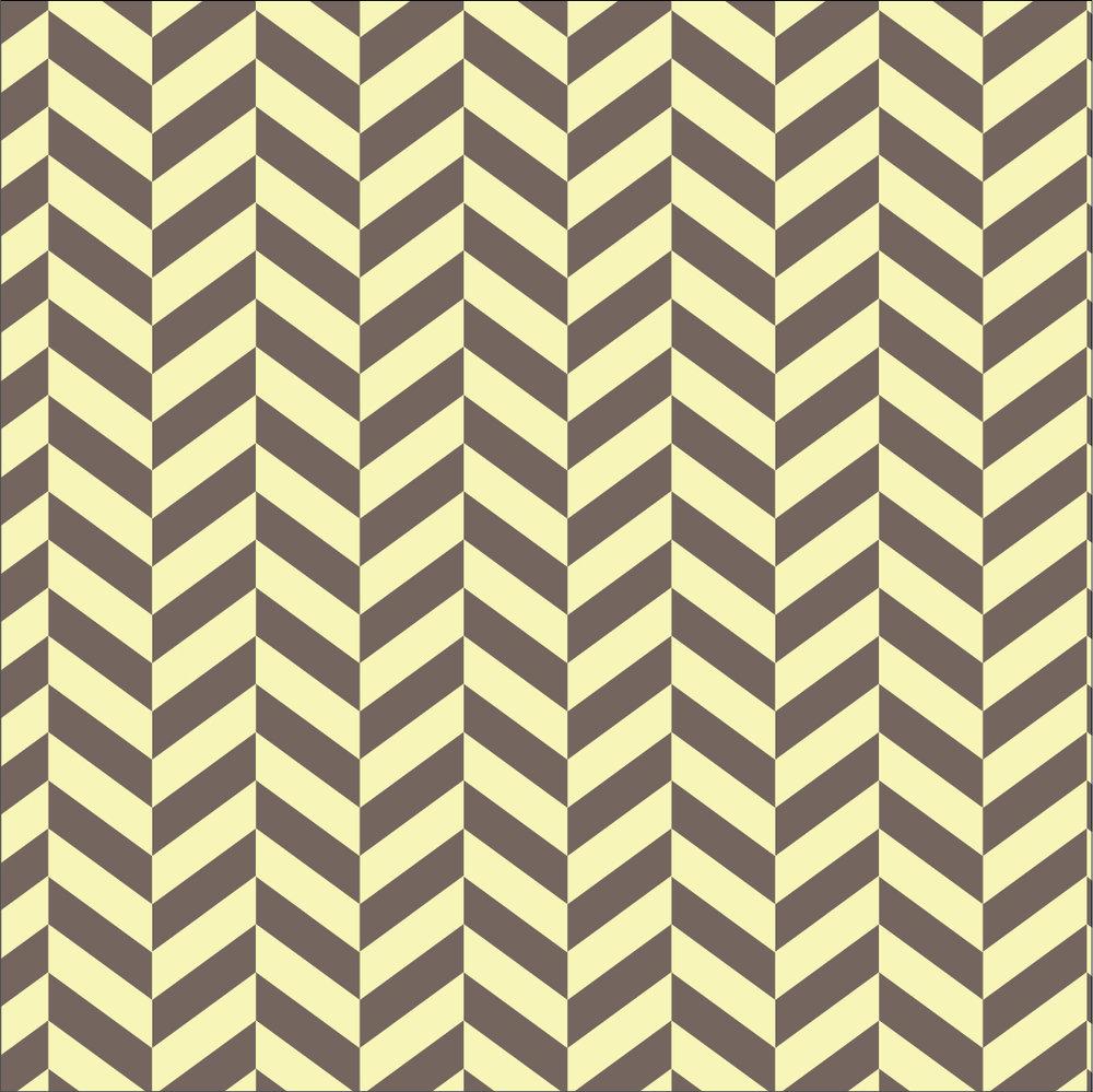 Pinocchio Chevron Pattern (yellow)