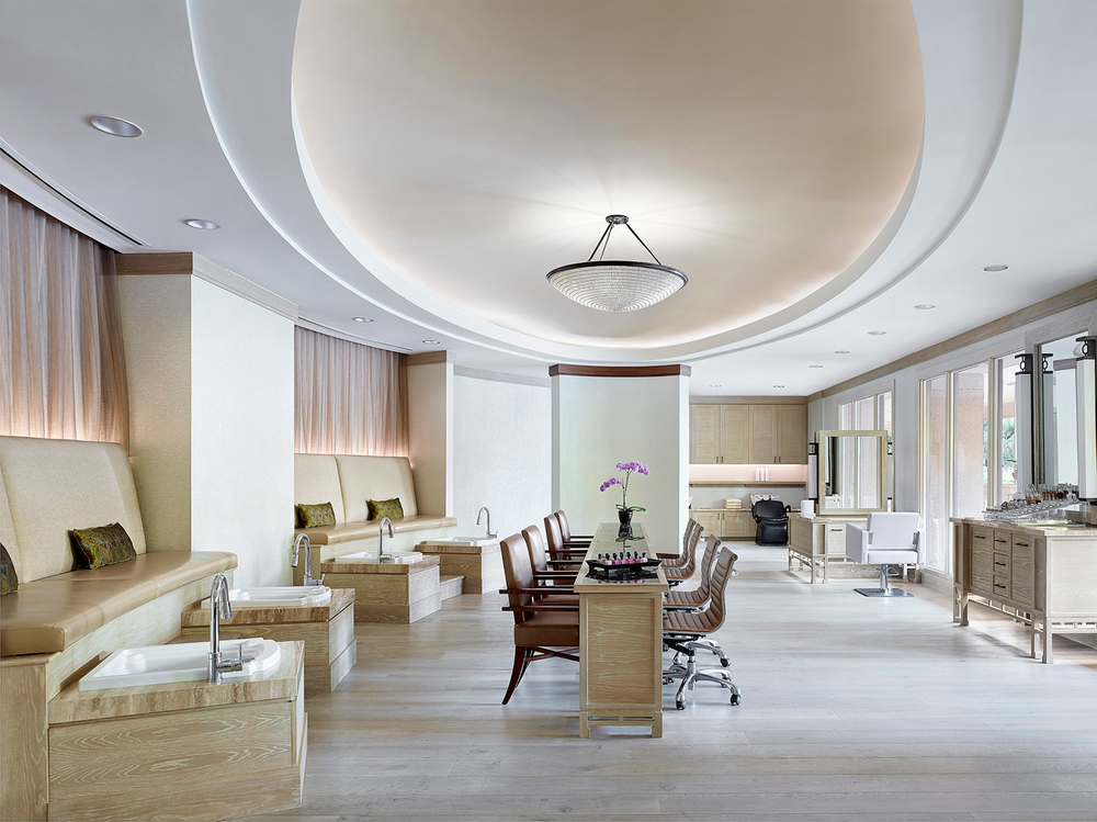 The Chuan Spa's beautifully-appointed hair and nail salon.