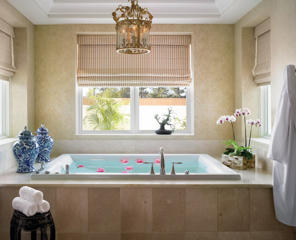 A relaxing bath at the Four Seasons Westlake Village Spa.