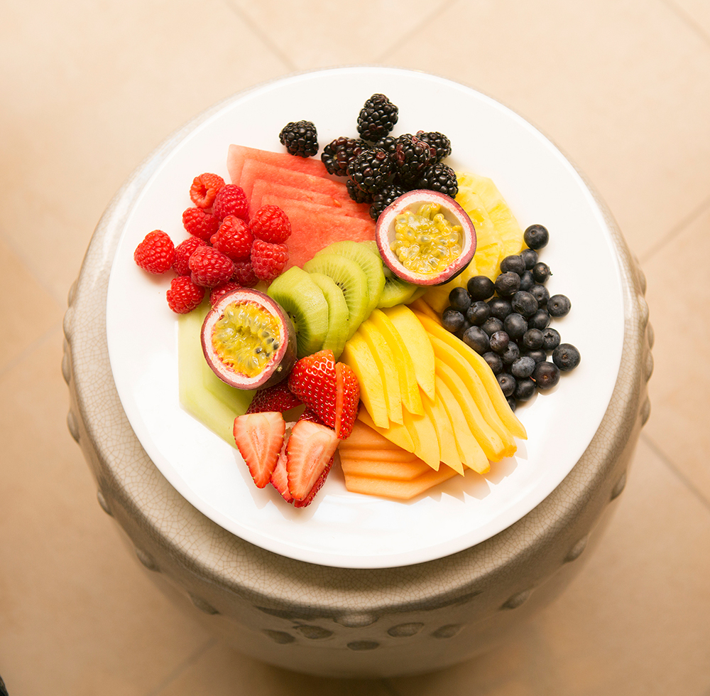 Spa Montage fruit plate.