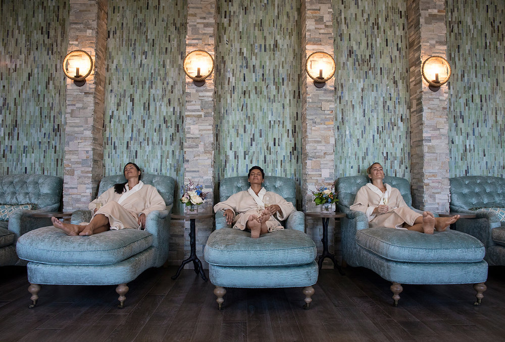 Guests relax at the Salamander Spa at The Henderson in Destin, Florida
