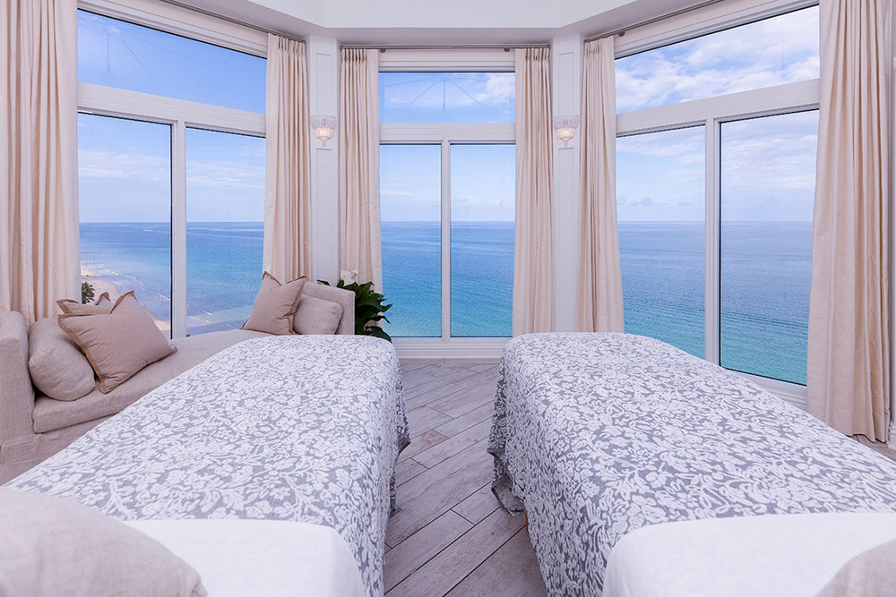 Beautiful treatment room view at Pure Spa.