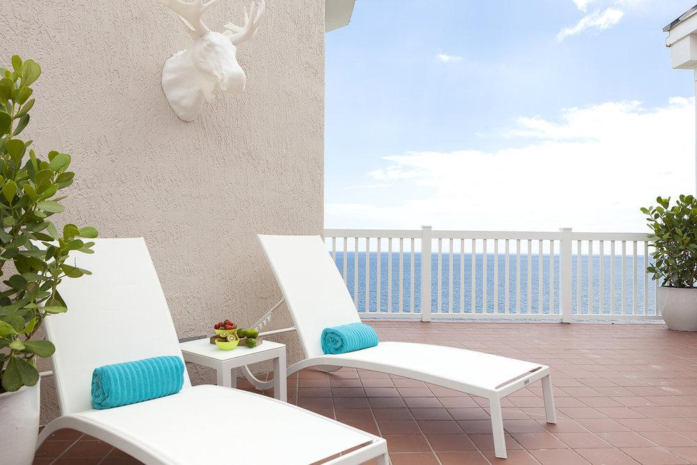 Outdoor relaxing at Pure Spa at Pelican Grand Beach Resort Ft. Lauderdale.