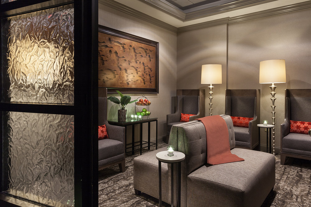 Relaxation lounge at The Spa at Orlando World Center Marriott