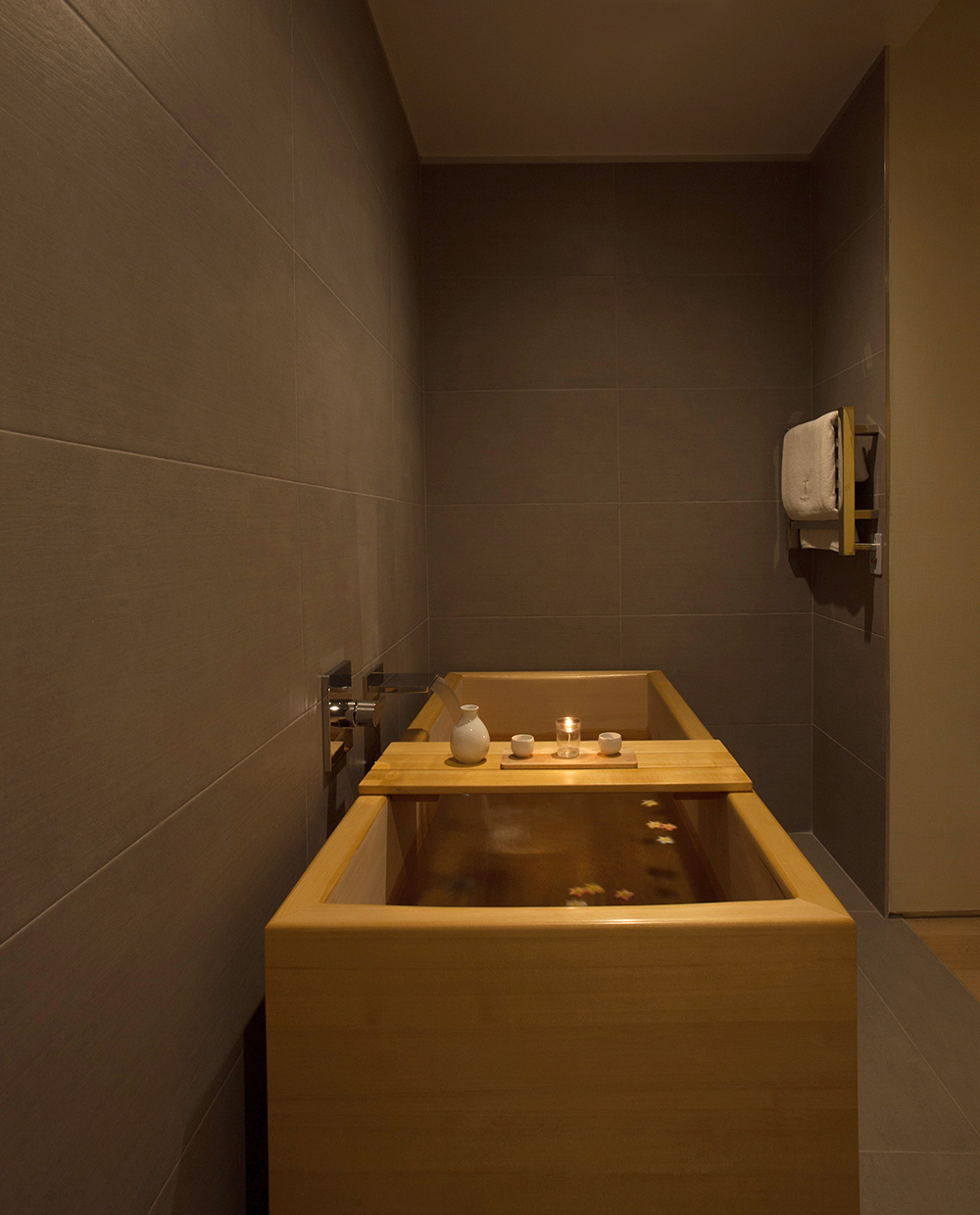 A Japanese-style  ofuro  bath at Tomoko Spa.