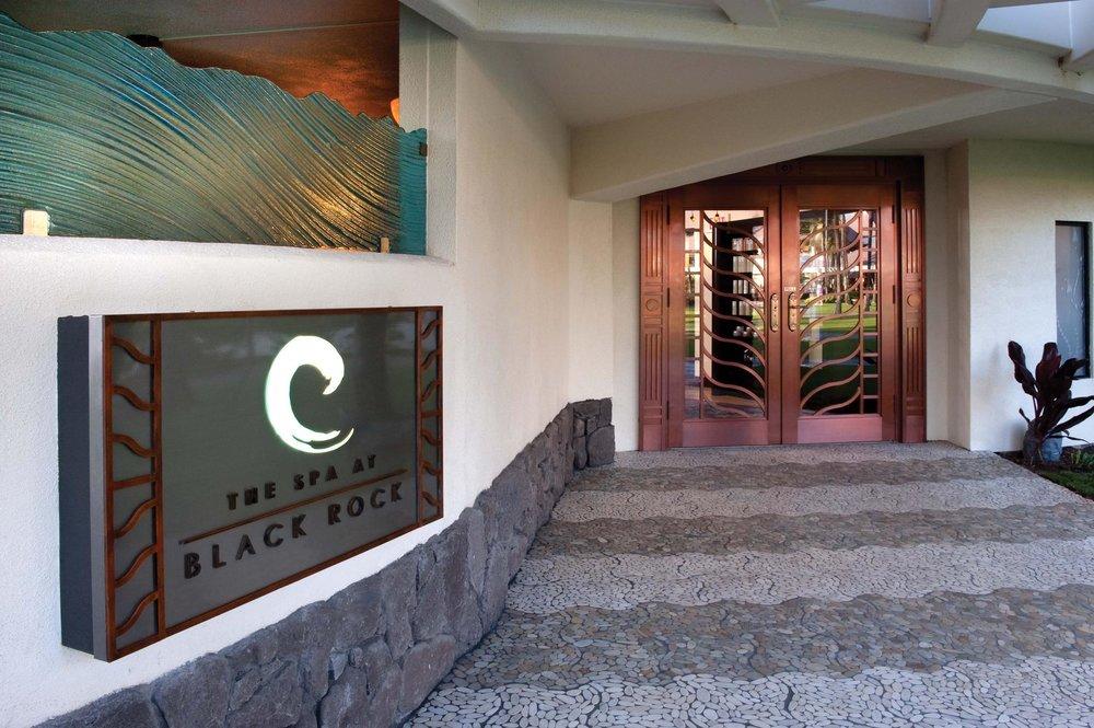 The entrance to The Spa at Black Rock at the Sheraton Maui Resort and Spa