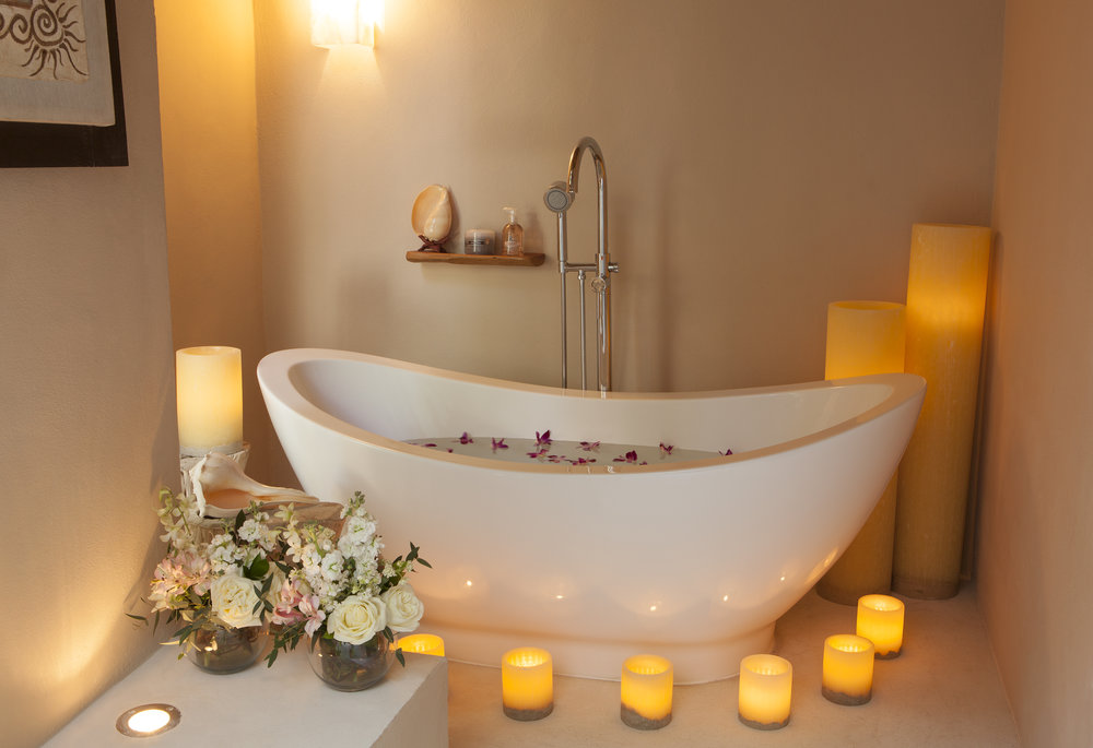 A relaxing bath at Revive Spa.