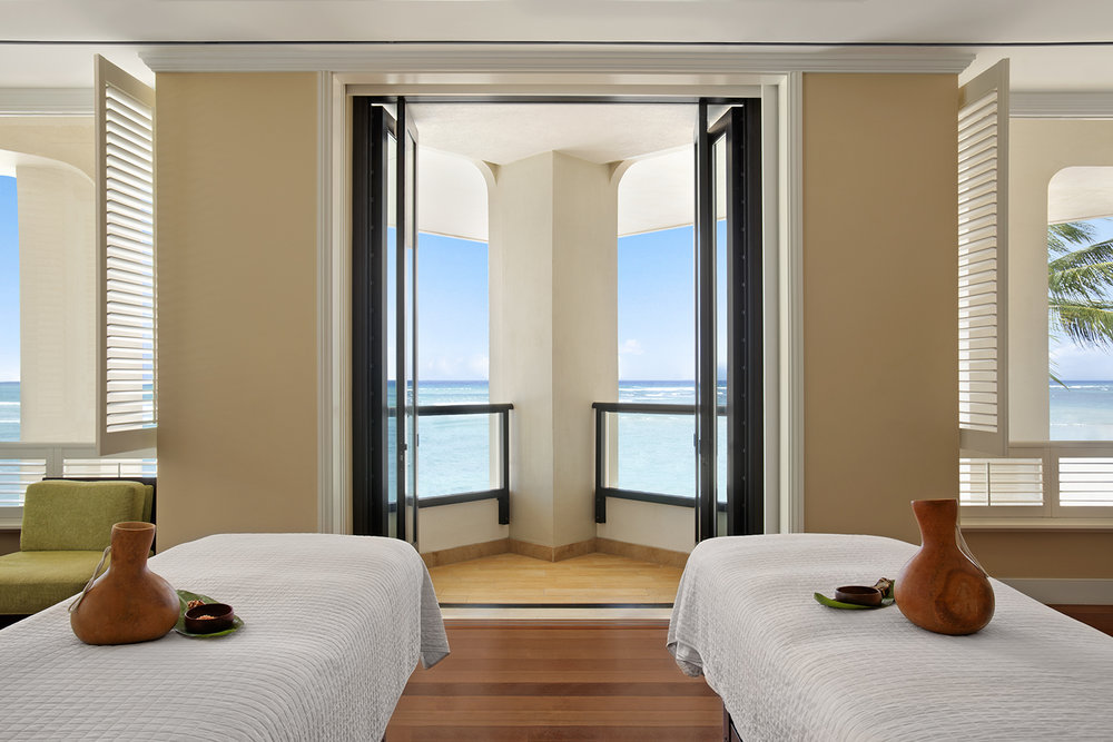 Ocean views from the couples suite at Moana Lani Spa.