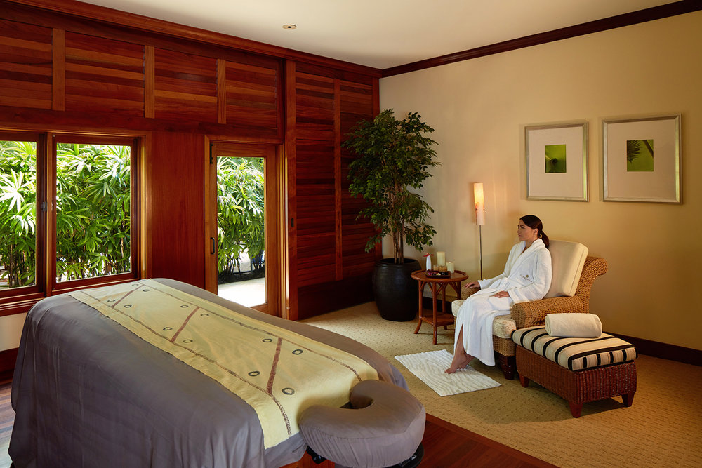 Treatment room at The Kahala Spa, Honolulu