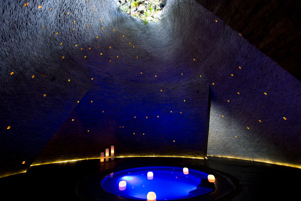 The Cenote Spa in Grand Hyatt Playa del Carmen embraces the natural healing pools found around the Mayan Rivera