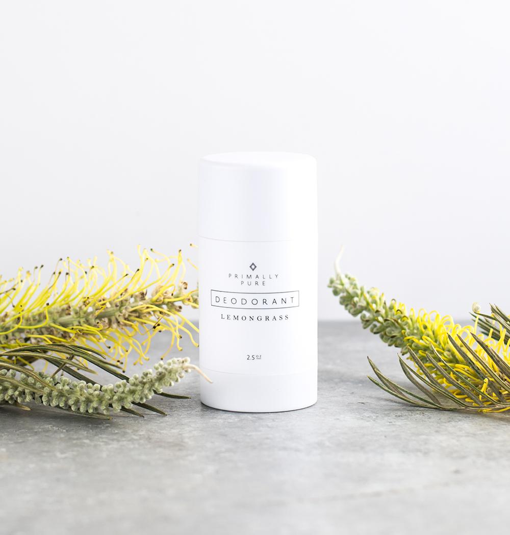 Lemongrass Deodorant, courtesy of Primally Pure