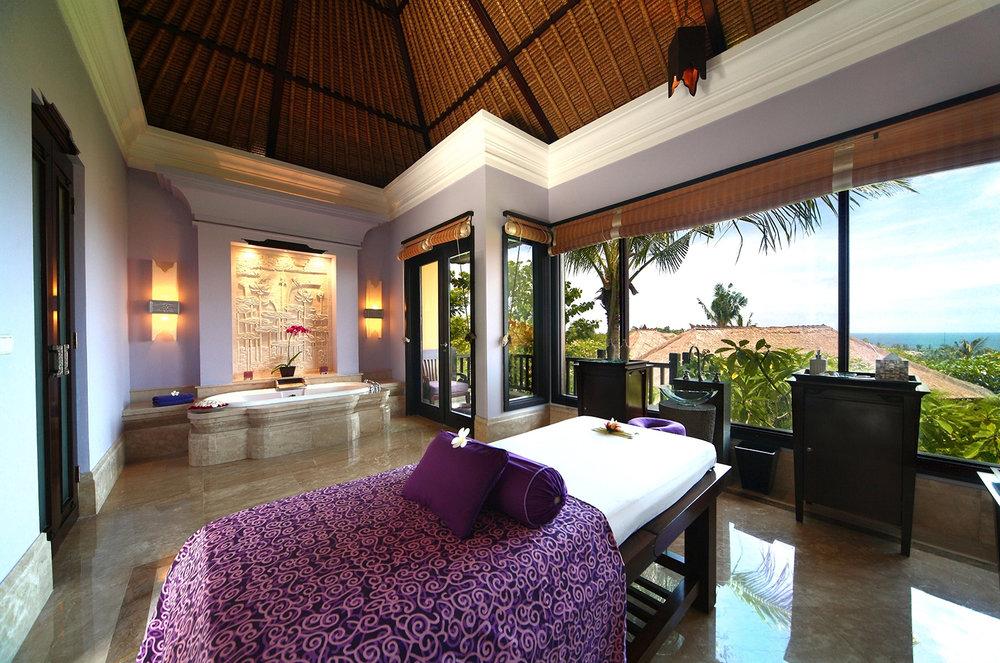 Spa Villa Treatment Room at Ayana Resort and Spa in Bali.