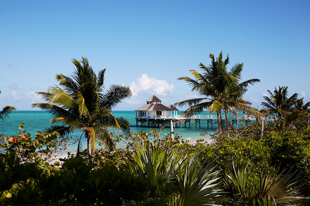 View of Kamalame Cay's Overwater Spa
